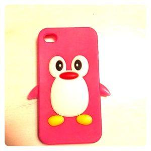 Accessories - iPhone 4 penguin case.